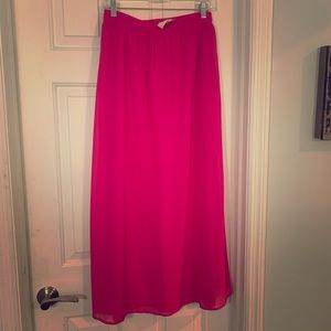 Skies are Blue Hot Pink Maxi Skirt